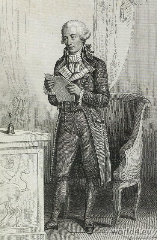 Pierre Victurnien Vergniaud. Girondist. Portrait French Revolution History costume