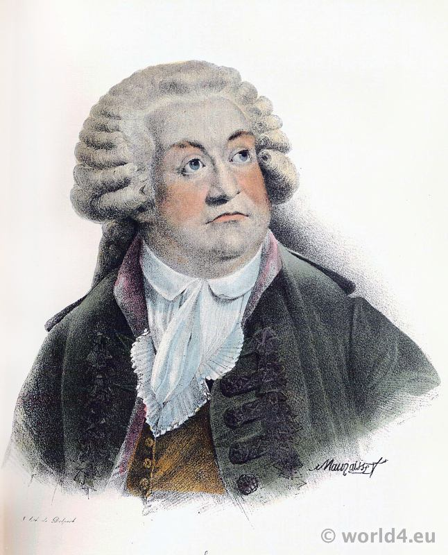 Mirabeau. Portrait French Revolution History. Politician, physiocrat, writer. Age of Enlightenment