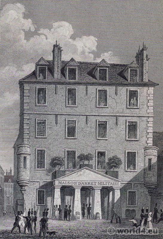 The prison de l'Abbaye. French Revolution history.