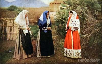 Traditional, Sardinia, costumes, Sassari, Osilo, Italy dress, costumi tradizionali,