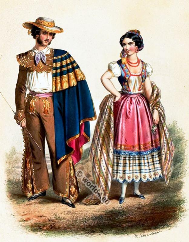 Mexico, Costumes, Alexandre Lacauchie, fashion history
