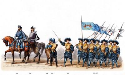 Renaissance German Lance soldiers costumes.