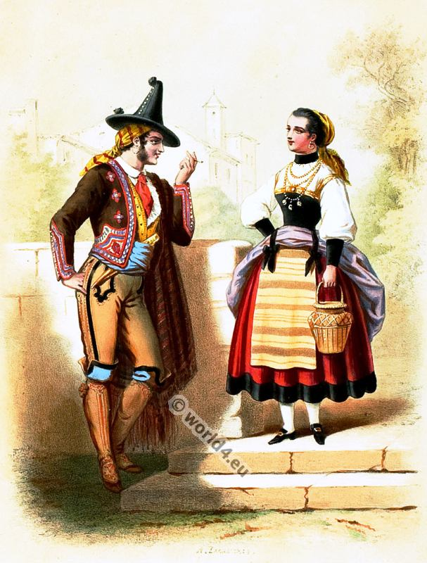 Portugal, Costumes, Alexandre Lacauchie, fashion history