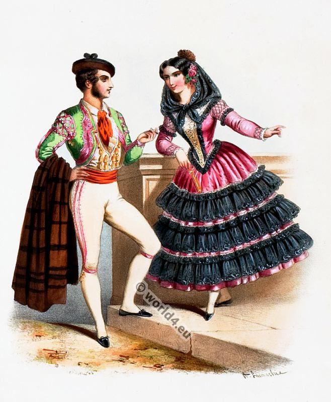 Spain, Costumes, Alexandre Lacauchie, fashion history