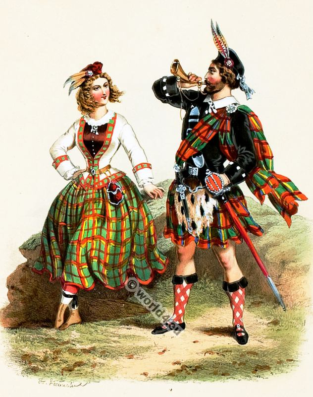 scotland, costumes, Scottish, Kilt, Tartan