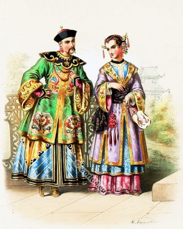 China, Costumes, Alexandre Lacauchie, fashion history