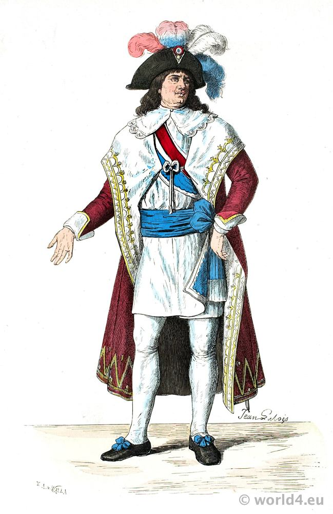 French Revolution History Costume. Member of the Directoire style. Franz Lipperheide