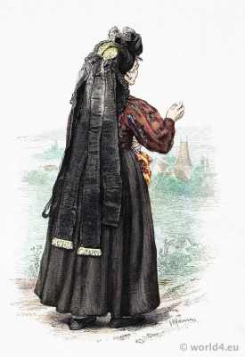 Traditional German peasant woman costume.