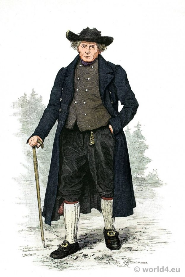 Traditional German Thuringia costume. Franz Lipperheide