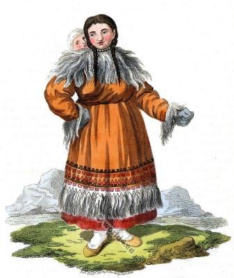 Traditional Kamtschatka Holiday Dress. Russian national costume