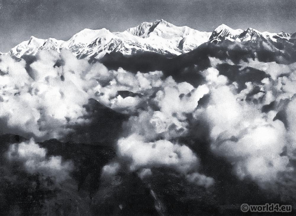 Kanchanjungha Range. Darjeeling India. View on Himalaya. J. Burlington Smith.