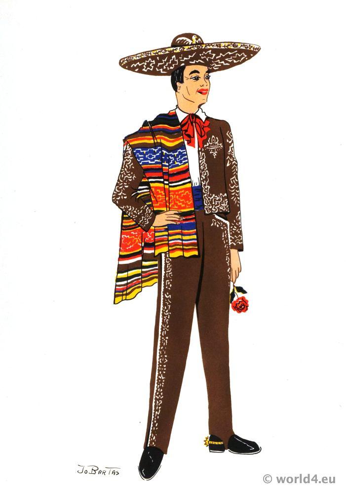 Charro, vaquero, Mexico, cowboy, costume, sombrero, Latin, folk dress, cattle herder