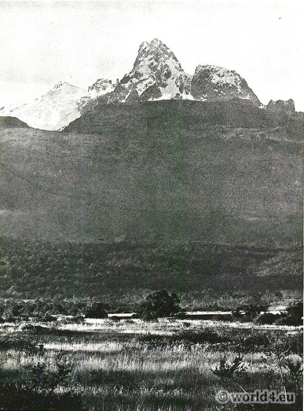 African landscape Mount Kenya.