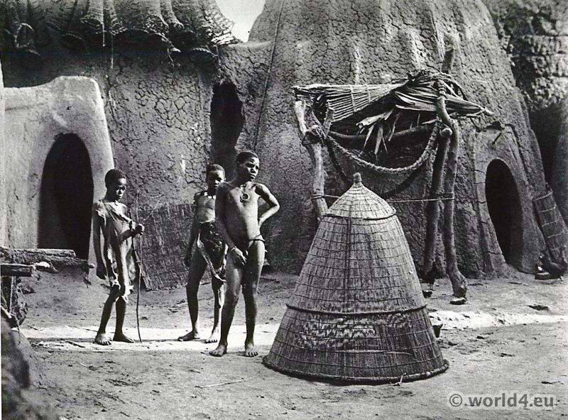 African tribe Musgu shepherds