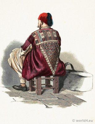 Persian traditional costume. Khoi folk dress. Franz Lipperheide. Arabian muslim clothing