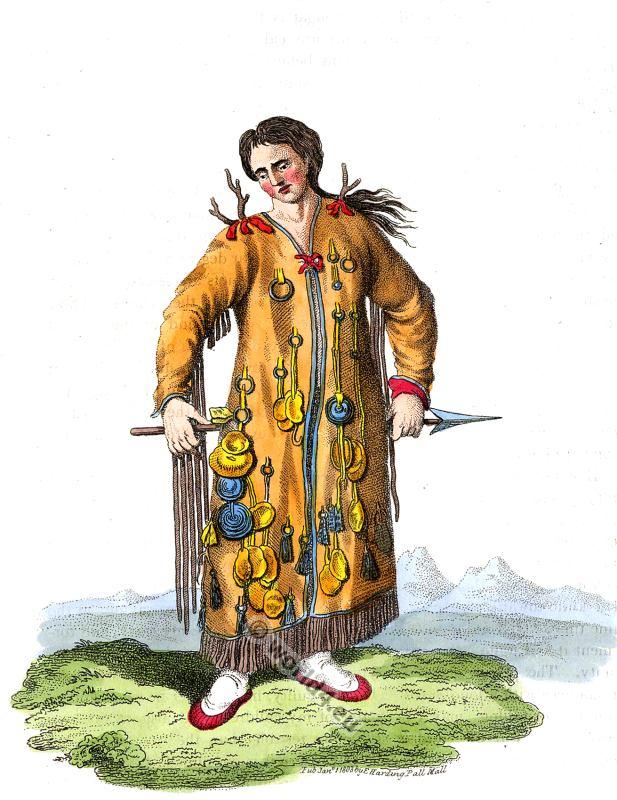 русская, народная, одежда, Evenk, Shaman, Evenki, Evenks, Tungusian, siberian, clothing, priest,