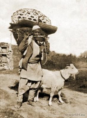 Traditional, Gurkha, costume, Tibet, clothing