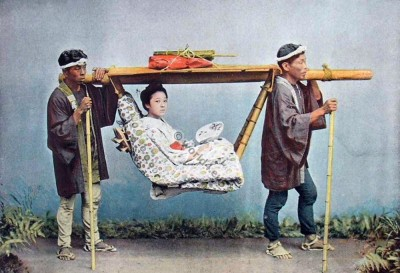 The Kago Chairs Japan Travel. Traditional Japan Costumes. Historical dress
