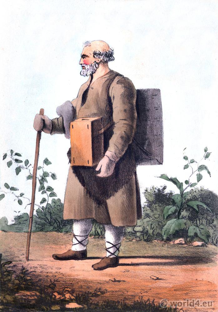 Hawker, russia, costume, traditional,, Edward Harding.,