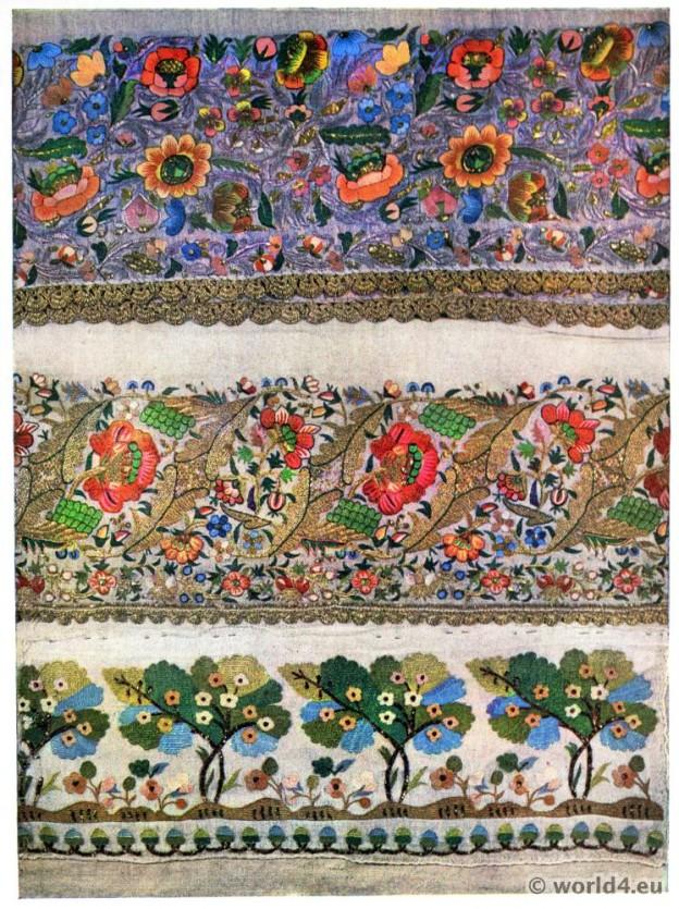 Turkish, embroidery, pattern, needle, work, 19th century