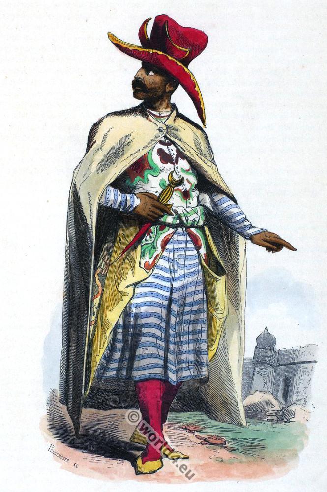 Arabian Noble, clothing, dress, costumes, Auguste Wahlen