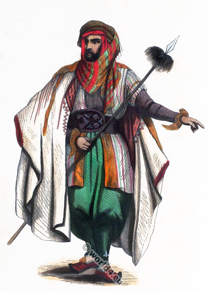 Inhabitant, Mount Lebanon, clothing, dress, Arabia, costumes, Auguste Wahlen