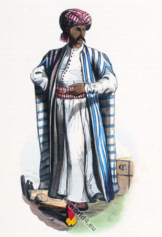 Arab, merchant, clothing, dress, costumes, Auguste Wahlen