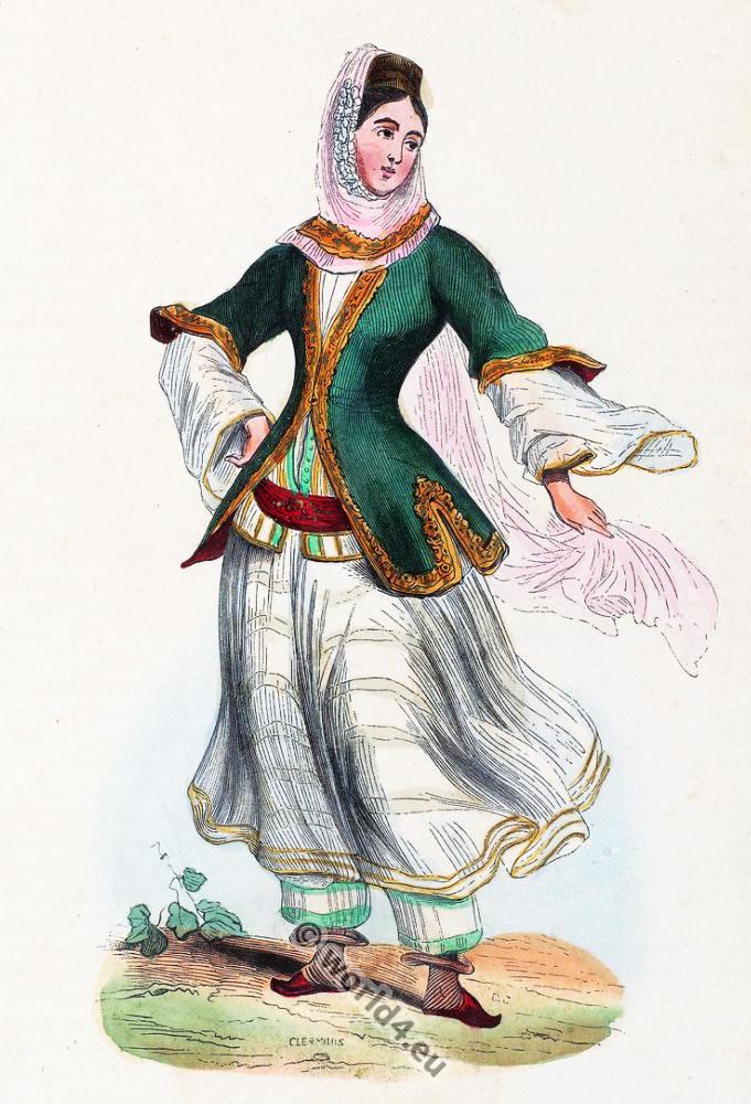 Armenian, Costume, Young  girl dress, Armenia, clothing, Auguste Wahlen