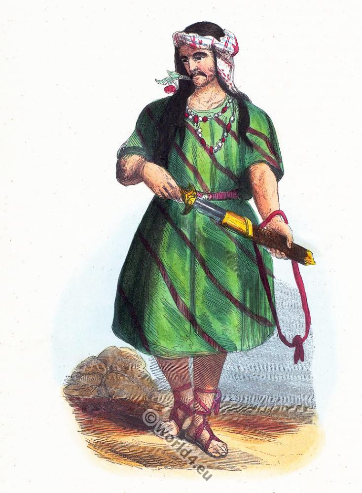 Asia Minor, Carian, Anatolia, Persia, clothing, dress, Asia, costumes, Auguste Wahlen