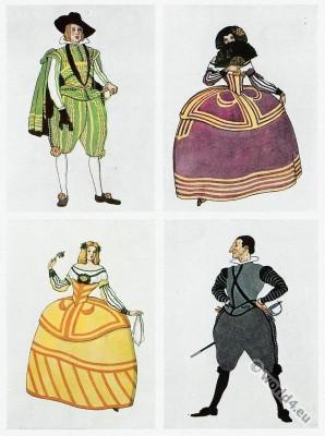 Costume designs, The Bonds of Interest, Jacinto Benavente, John Garside