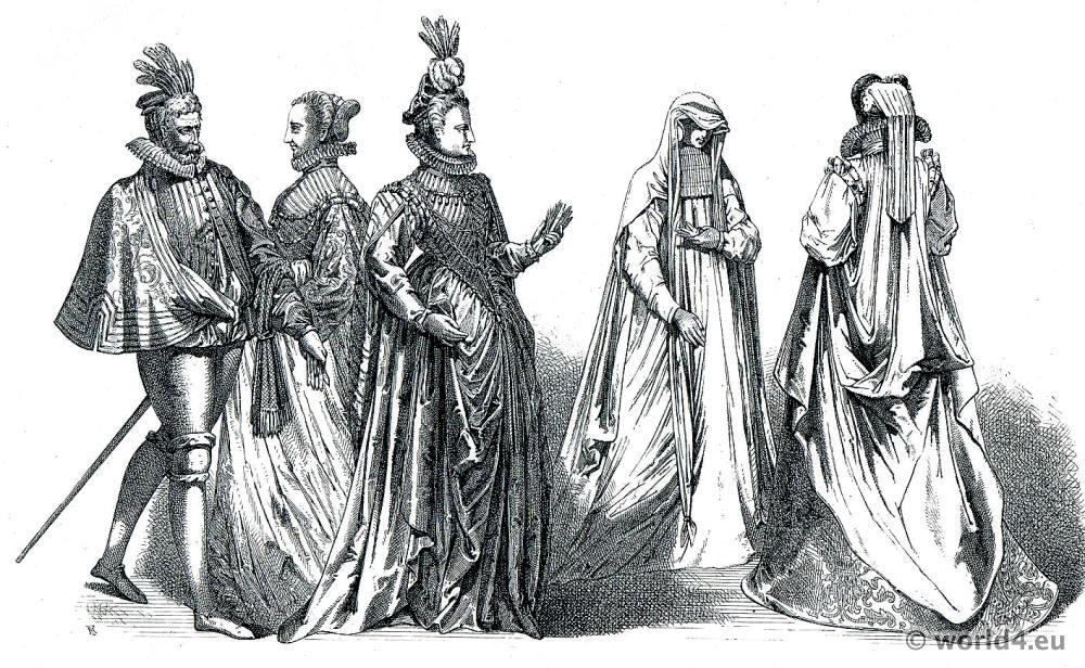 Jacques Boissard, Costumes, Renaissance, clothing