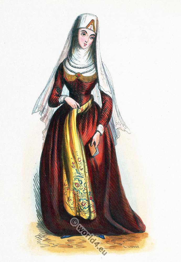 Georgian, clothing, dress, Asia, costumes, Auguste Wahlen