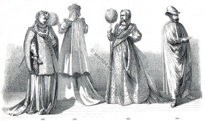Modes, Italiennes, Italy, Napolitan, Pisa, Florentine, fashion, costumes, Renaissance, Nobility, court dress
