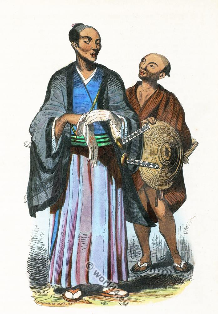nobleman, Japan, Asia, costumes, Auguste Wahlen
