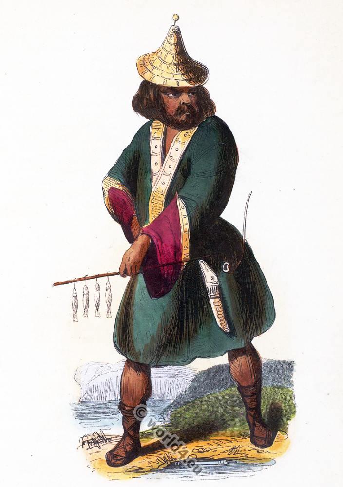 Indigenous, Ainu, Japan, Asia, costumes, Auguste Wahlen