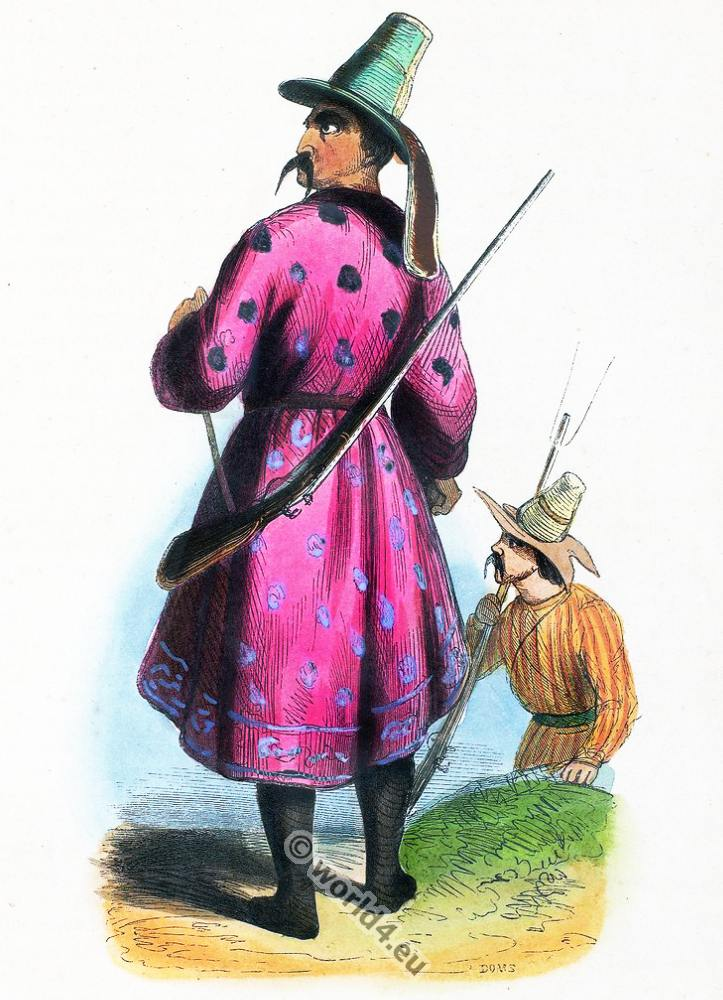 Kyrgyz, clothing, dress, Asia, costumes, Auguste Wahlen