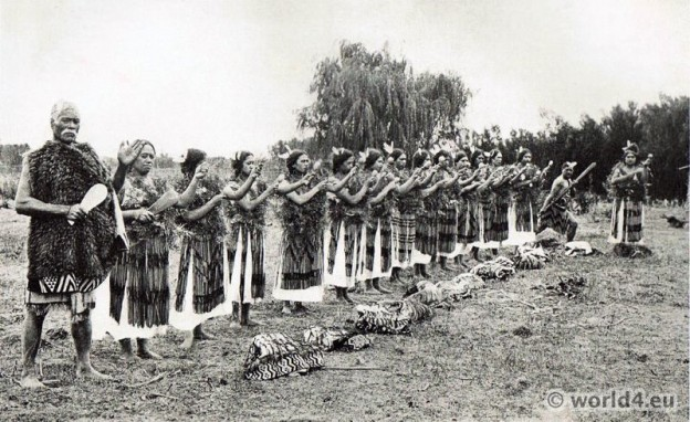 Maori Poi Dance, New Zealand 1913