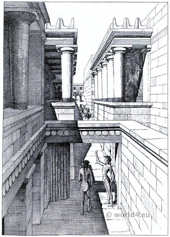 Palace, Knossos, Minoan, Crete, Ancient,