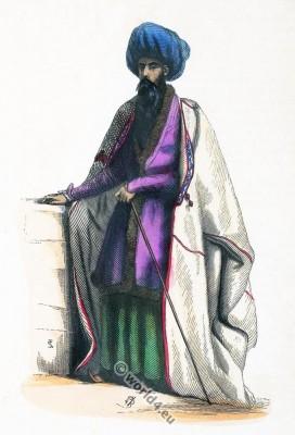 Iranian priest. Mullah costume. Traditional Shiite preacher clothing. Wahhabism, Sunni Islam, Wahhabi, Salafi