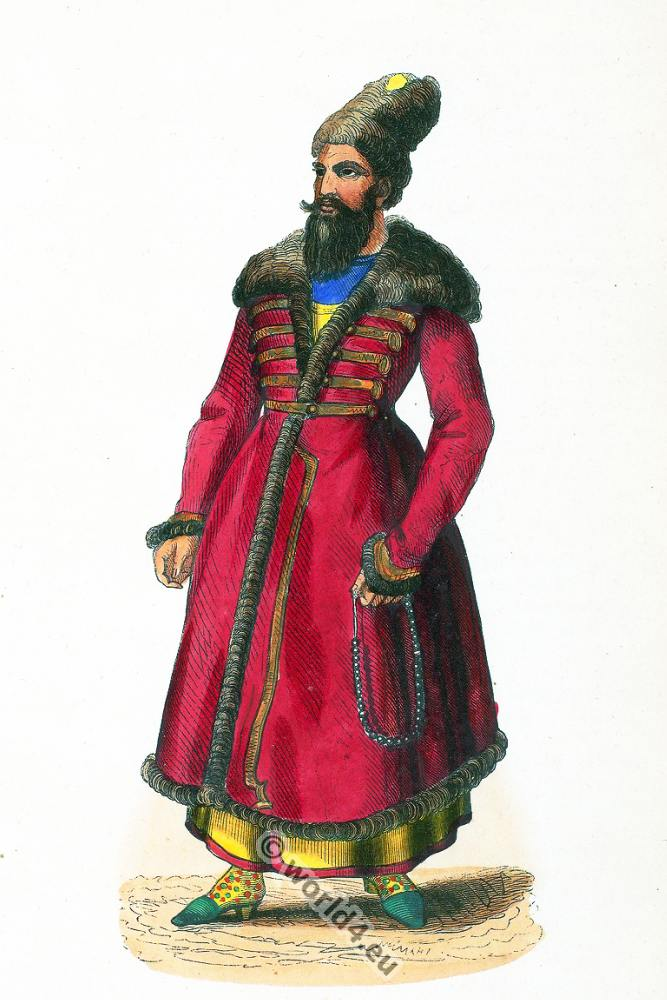 Iran, Persia, Persian, Noble, clothing, dress, Asia, costumes, Auguste Wahlen,
