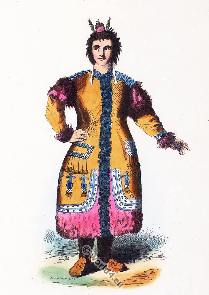 Traditional, Yakutia, Russia, costume, Sakha, clothing,