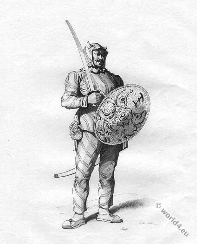 Chinese, military, Tartar, Tiger Guard, costume,