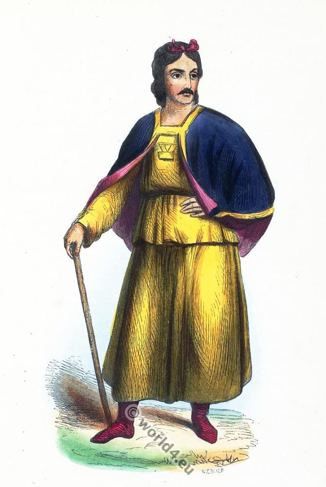 Tibetan, clothing, dress, Asia, costumes, Auguste Wahlen