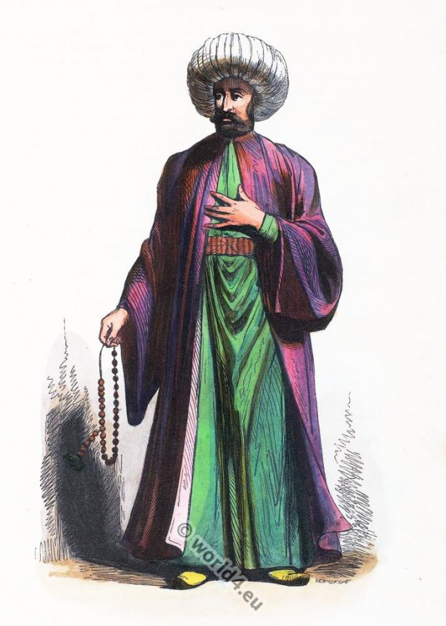 Turkey, Imam, clothing, dress, Asia, costumes, Auguste Wahlen