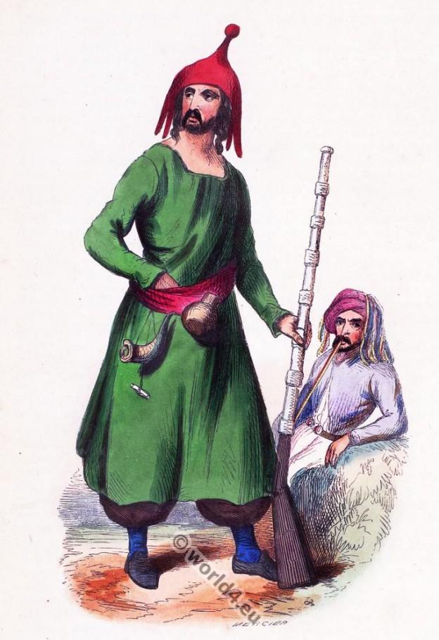Kurdish, Kurd, clothing, dress, Asia, costumes, Auguste Wahlen