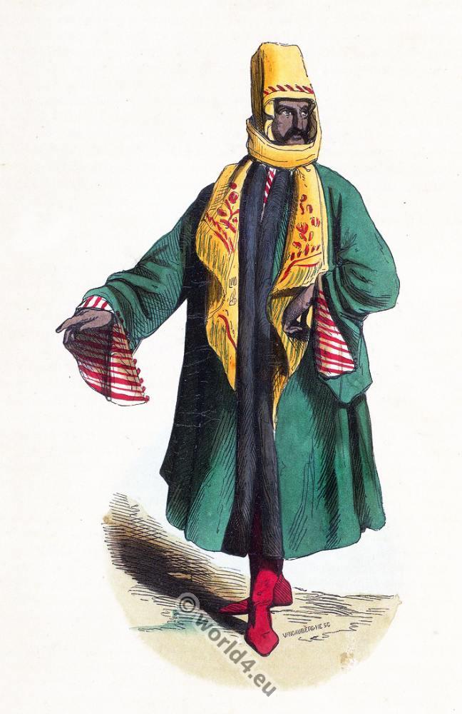 Turkish, Mardin, clothing, dress, Asia, costumes, Auguste Wahlen