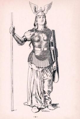 Brünnhilde. Opera Costumes. The Ring Cycle. Ring des Nibelungen. Richard Wagner.