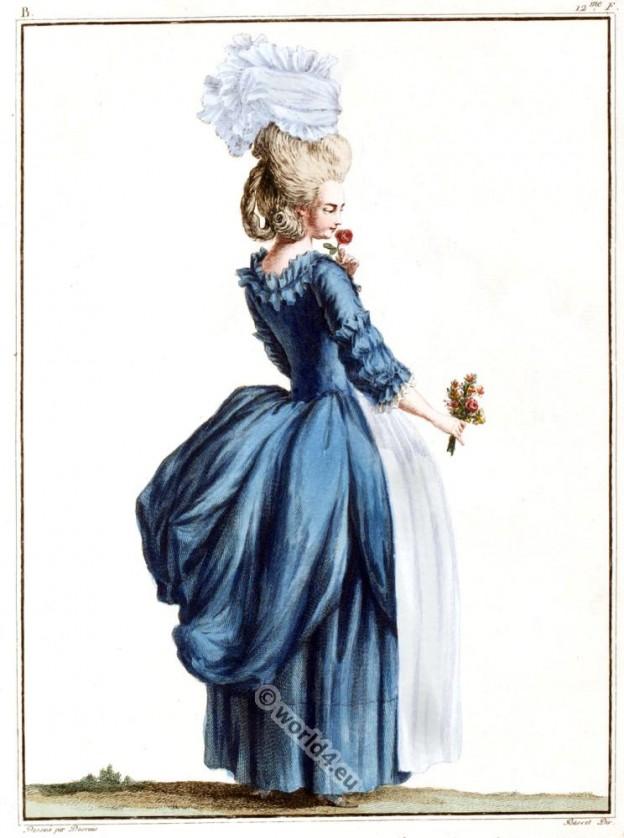 Robe, Anglaise, rococo, costume, fashion,