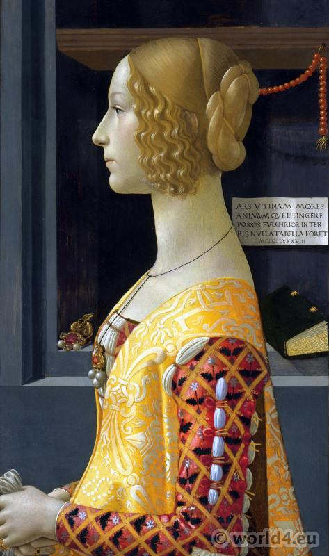 Italian Renaissance painting. Giovanna Tornabuoni. Domenico Ghirlandaio