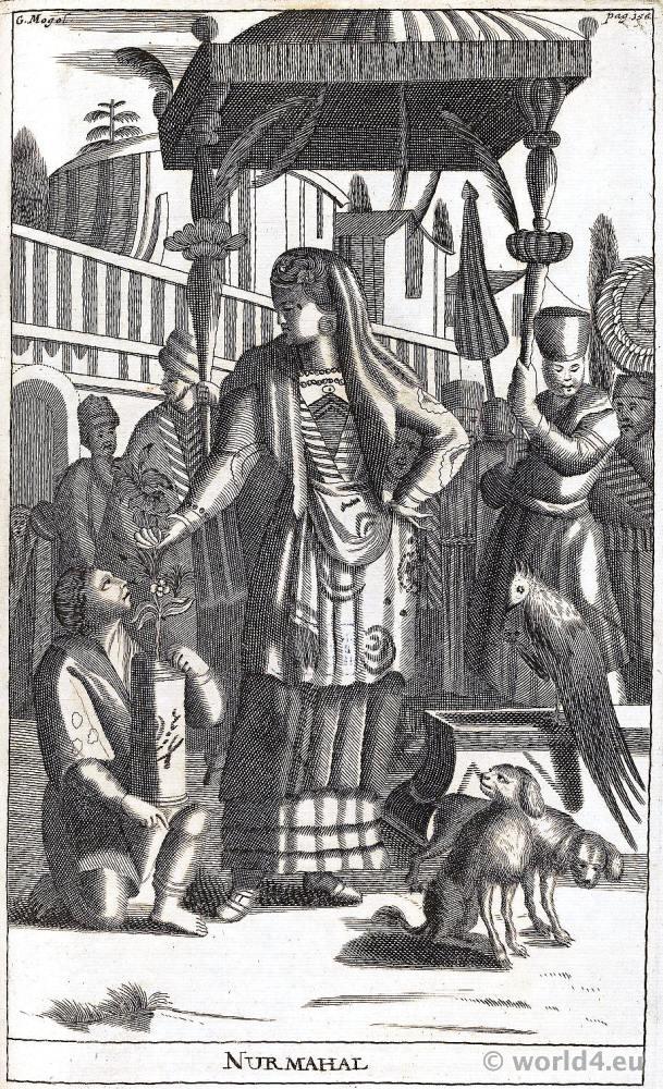 Mughal Empress Nur Jahan (1577 – 1645), called 'Nur Mahal' or 'Light of the Palace' chief consort of Emperor Jahangir.